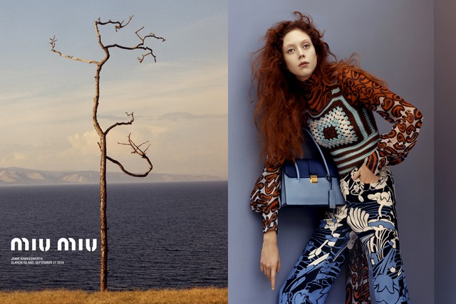 First Look: Miu Miu Resort 2015 Campaign with Natalie Westling