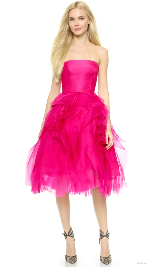 Monique Lhuillier Organza Petal Cocktail Dress available at Shopbop for $4,995.00