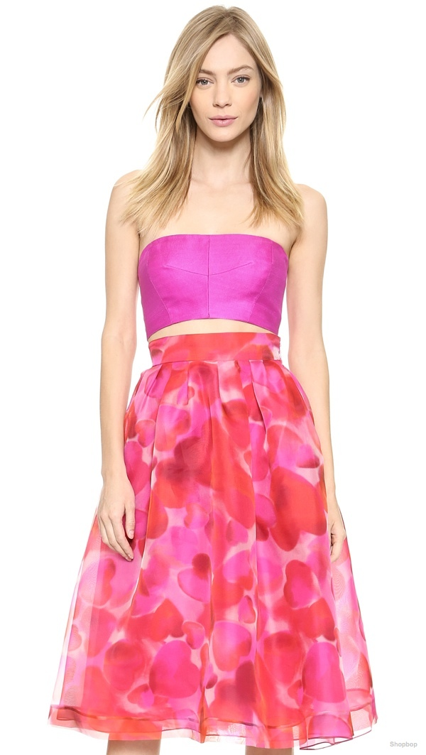Monique Lhuillier Silk Faille Bandeau Top available at Shopbop for $695.00