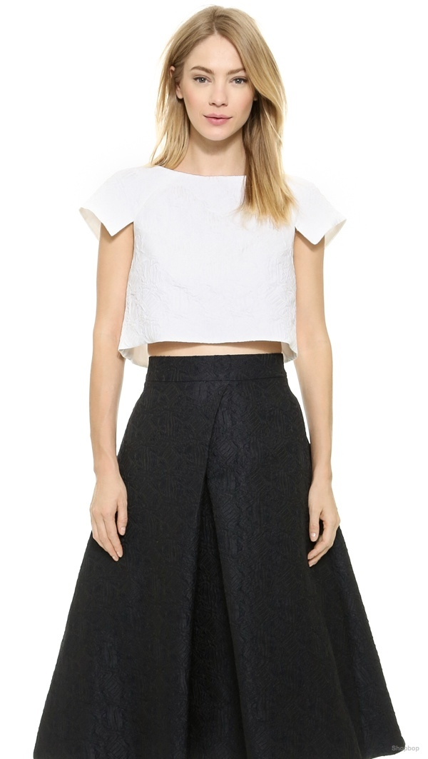 Monique Lhuillier Sculpted Crop Top available at Shopbop for $795.00