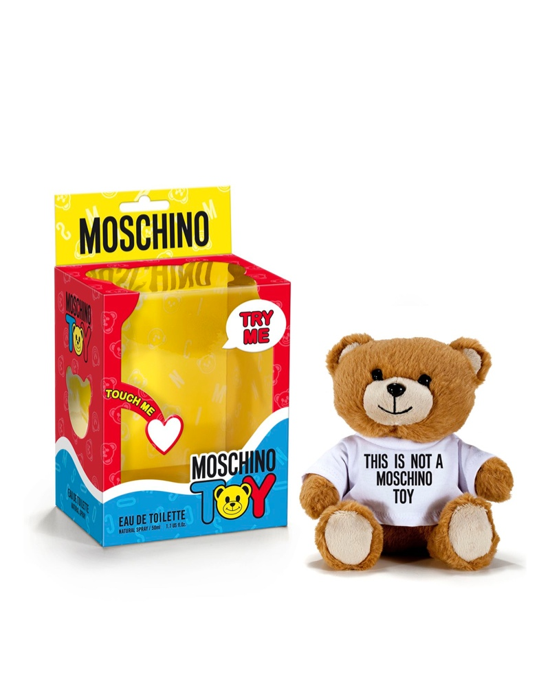moschino toy fragrance bottle Isabeli Fontana Gets Covered in Stuffed Animals for Moschino 'Toy' Fragrance Ad