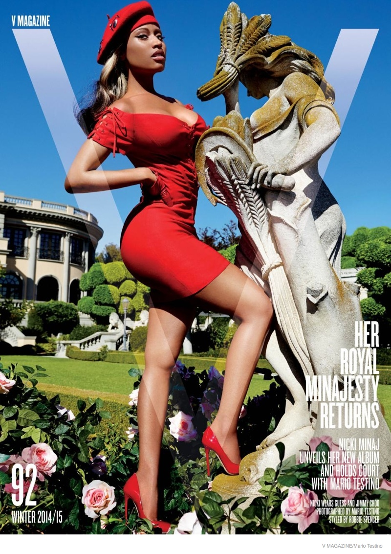 Nicki Minaj Flaunts Her Curves in V Magazine Photos