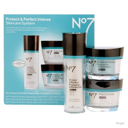 No7 Protect and Perfect Intense Skincare System - 3 Piece Set