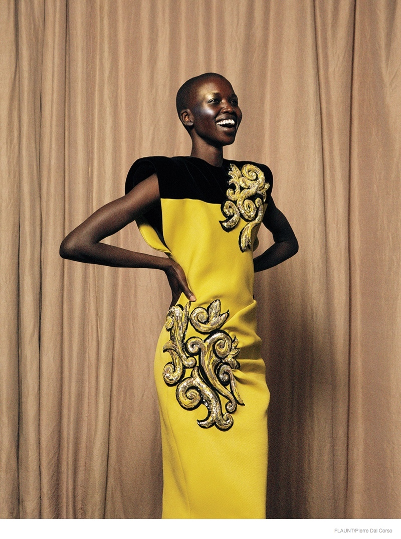 Nykhor Paul Wears Haute Couture for Flaunt by Pierre dal Corso