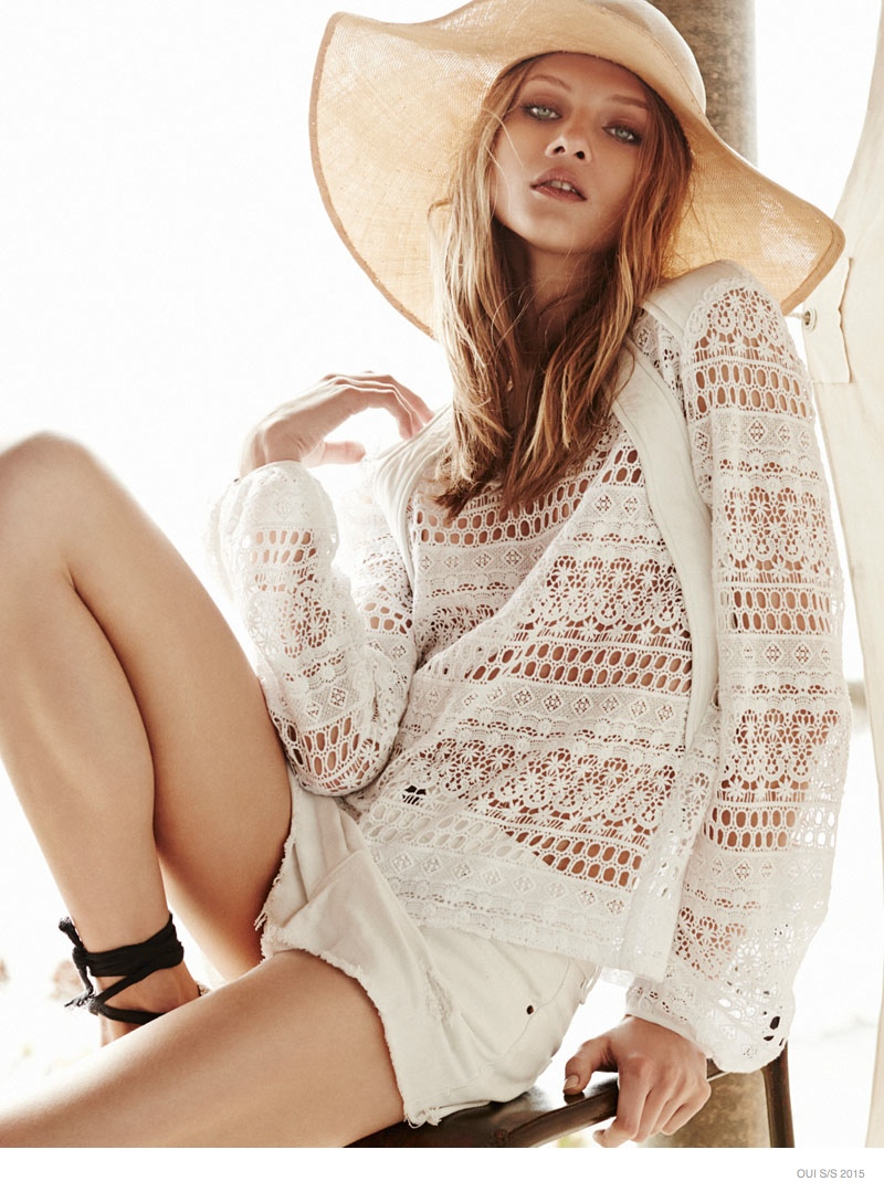 Anna Selezneva + Esther Heesch Model Dreamy Fashions for Oui S/S 2015