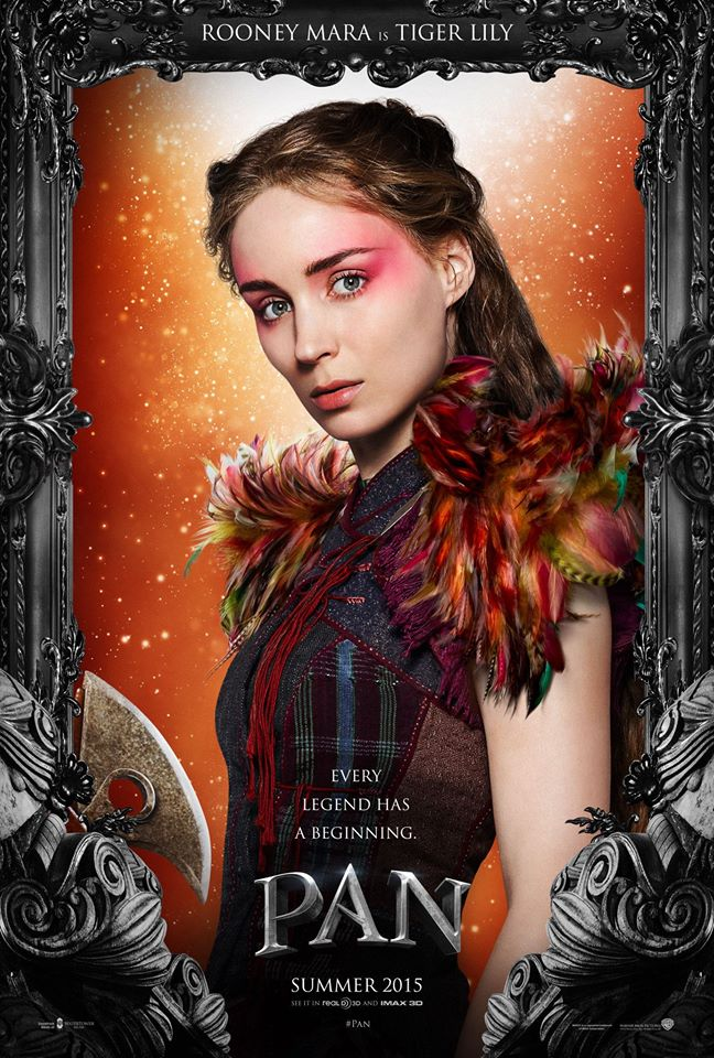 Rooney Mara as Tiger Lily in the Pan (2015) movie poster