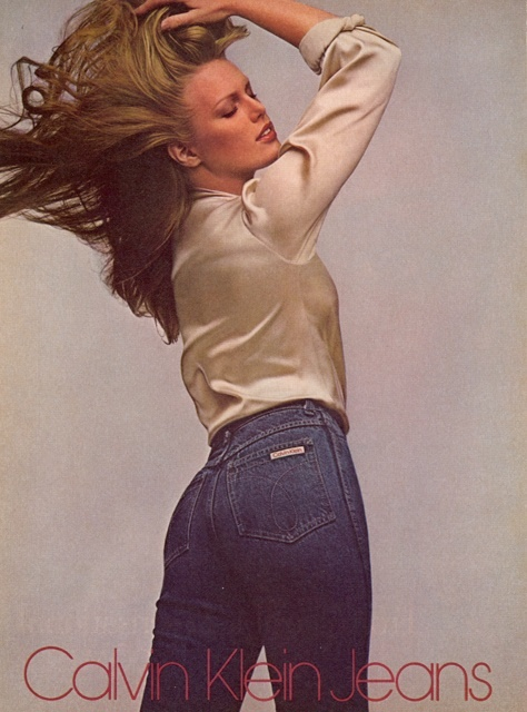Patti Hansen Models In Calvin Klein Jeans 1979 Ads
