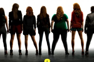 "Teaser poster for ""Pitch Perfect 2"", set to hit theaters on May 15th, 2015."