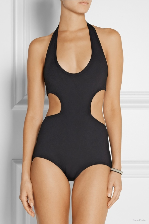 Proenza Schouler cutout halterneck swimsuit available at Net-a-Porter for $350
