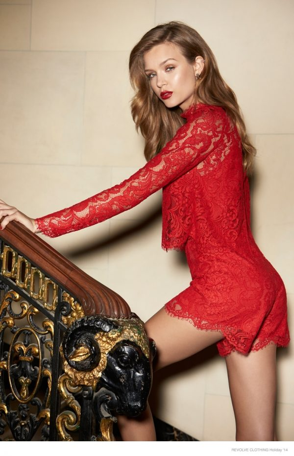 "Josephine Skriver for REVOLVE 2014 Holiday ""The Glam Life"""