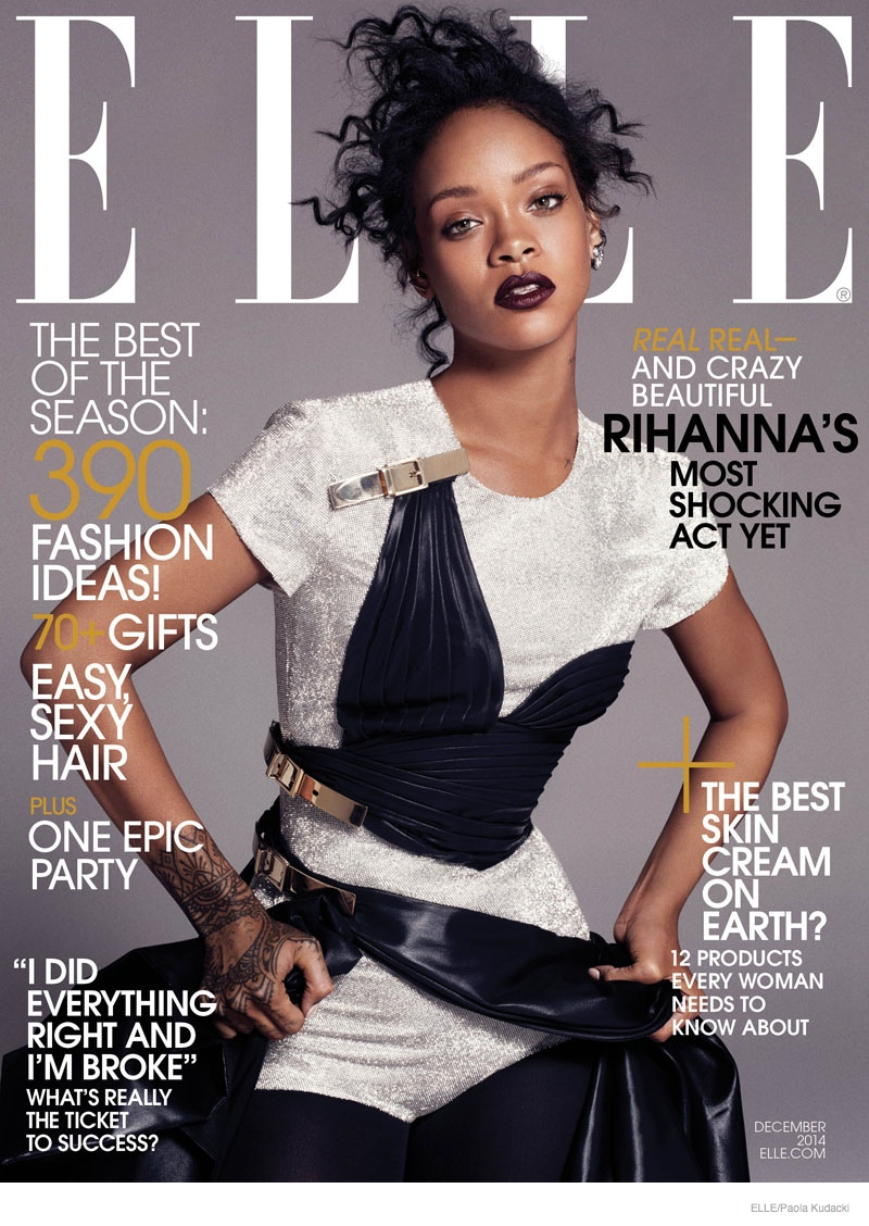 The December 2014 Issue of ELLE Features Rihanna on the cover and is available now on newsstands. Photo: Paola Kudacki