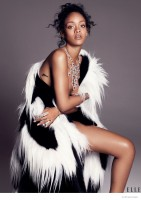 Rihanna Poses in Haute Couture for ELLE December 2014 Cover Shoot