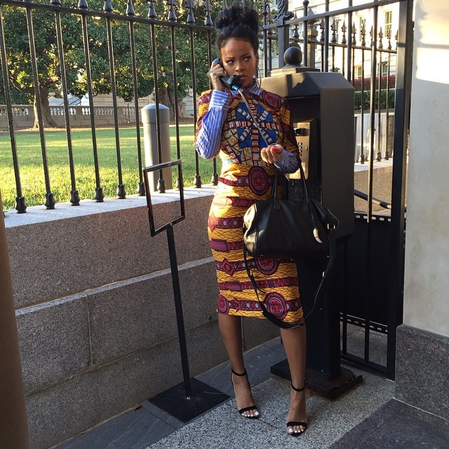 Rihanna Channels 'Scandal' at the White House, is Stylish While Doing So