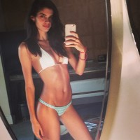 Sara Sampaio posted a bikini Instagram with a message saying that she is proud of her body and won't allow people to bully her any more.