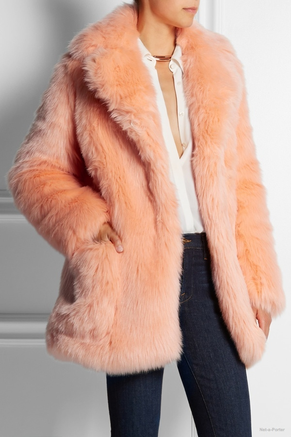 See by Chloe faux fur coat available at Net-a-Porter for $895