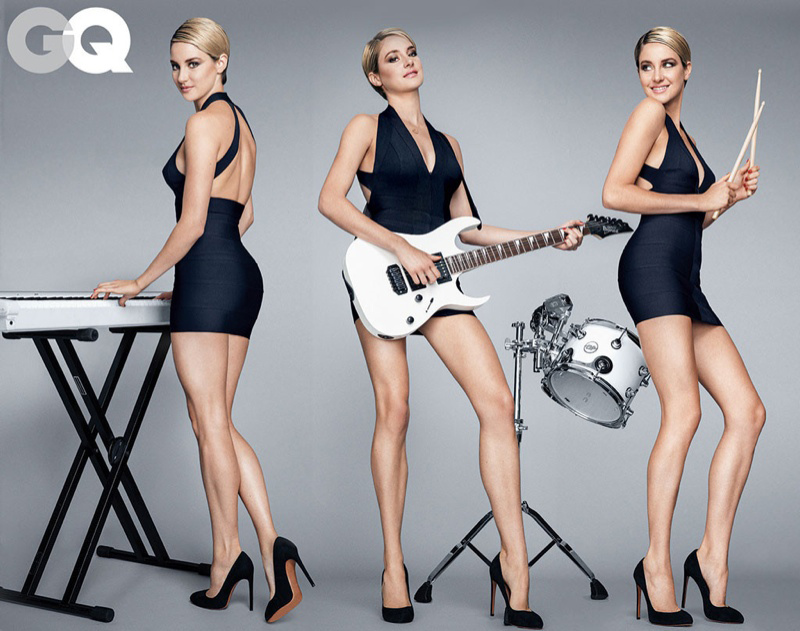 Shailene Woodley Flaunts Legs in GQ Shoot