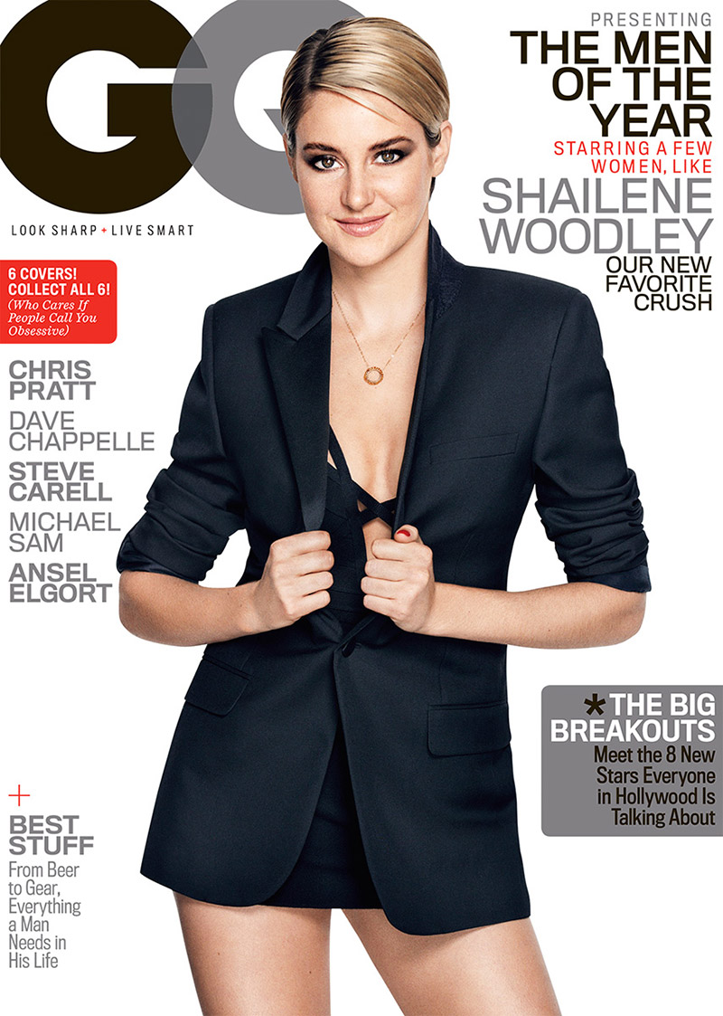 "Shailene Woodley Stars on GQ's ""Men of the Year"" Cover"