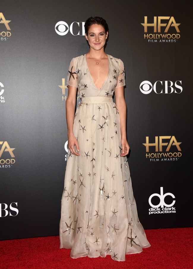 Shailene Woodley donned a Valentino gown