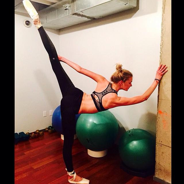 Sigrid Agren shows off her ballet moves