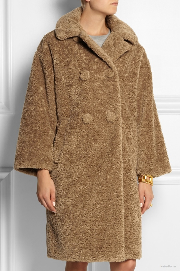Sonia by Sonia Rykiel oversized faux fur coat available at Net-a-Porter for $810