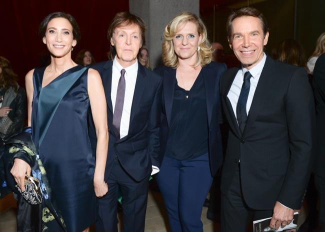 Nancy Shevell, Jeff Koons, Justine Koons, Paul McCartney