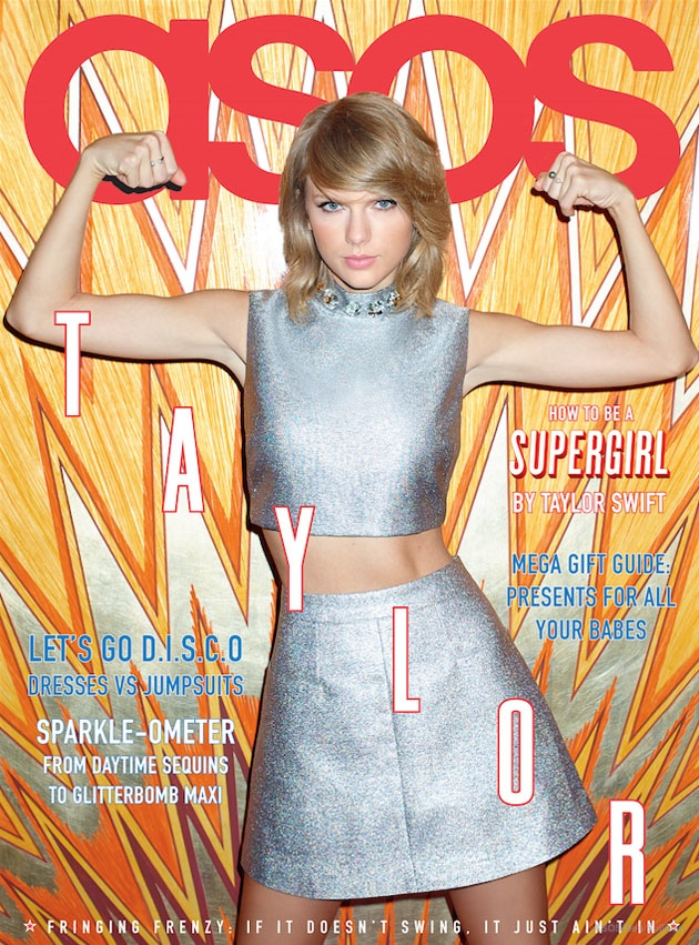 taylor swift asos magazine january 2015 01 Taylor Swift Gets Her Shine on for ASOS Magazine