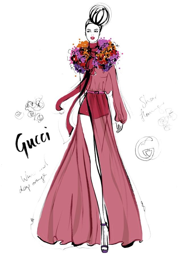 Gucci Dress. Photo: Megan Hess.