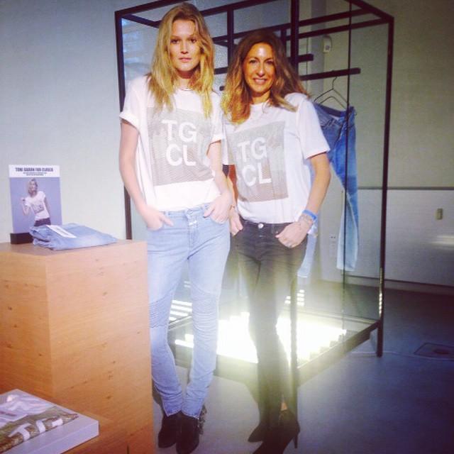 Toni Garrn shares Closed t-shirt collaboration