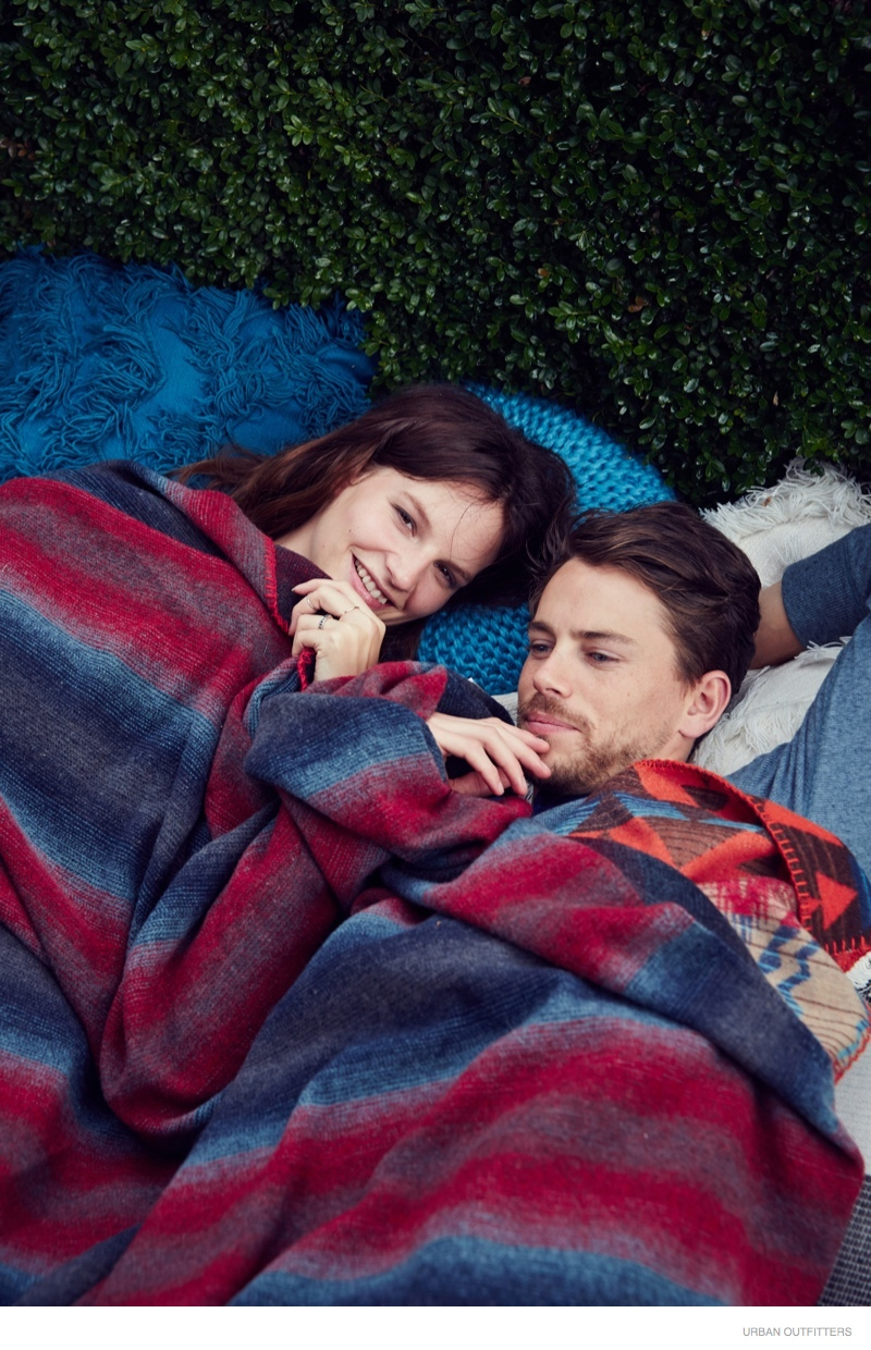 Sara Blomqvist & Her Husband Are Home for the Holidays in Urban Outfitters Shoot