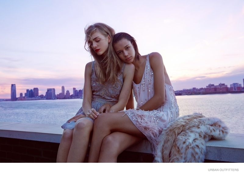 Binx Walton and Hedvig Palm shot by Devyn Galindo for Urban Outfitters - At the Jane Hotel in New York City, NY.