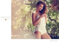 Yara Khmidan Fronts Eberjey Lingerie Holiday '14 Ads by Dove Shore