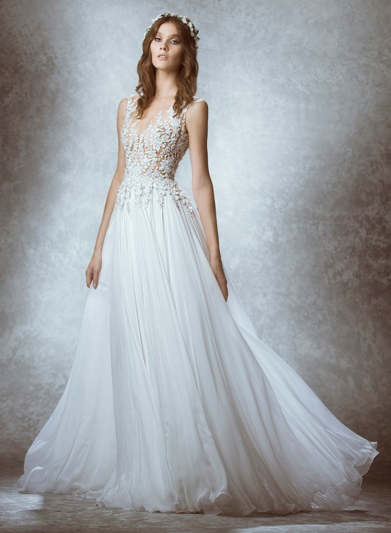 Zuhair murad 2015 fall bridal wedding dresses photos for Romantic ethereal wedding dresses