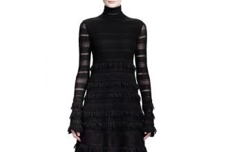 Alexander-McQueen-Sheer-Patchwork-Lace-Stripe-Dress