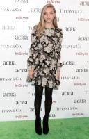 Amanda Seyfried Wears Saint Laurent Floral Dress at the ACRIA Holiday Dinner Event