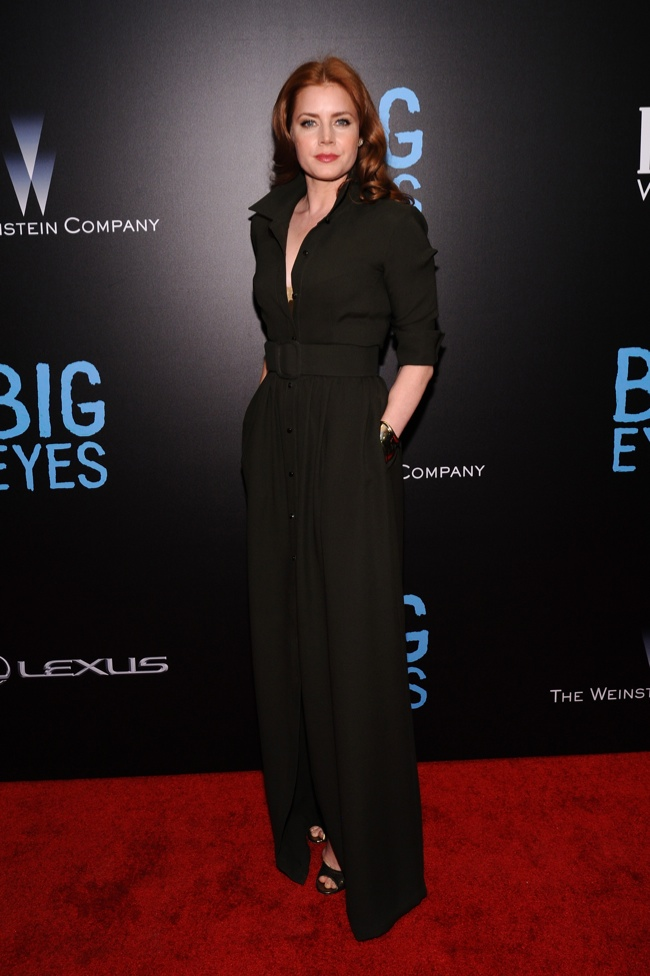 "Amy Adams Spotted in Max Mara Shirtwaist Dress at ""Big Eyes"" World Premiere"