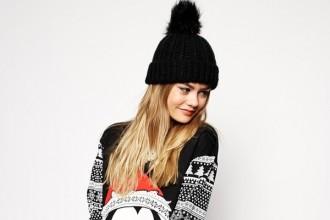 ASOS Sweater Dress in Christmas Mickey Mouse Fairisle Print