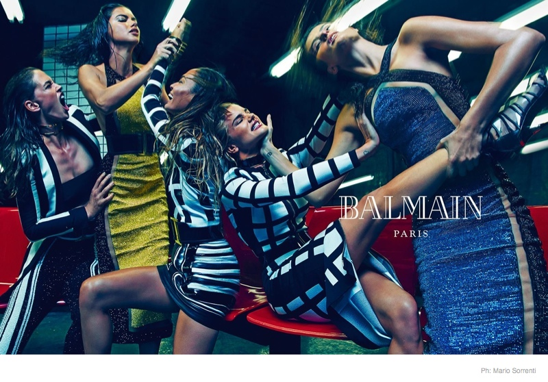 Model Catfight! More Photos Revealed of Balmain's Spring 2015 Ads