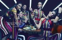 Top Models Play Video Games, Eat Burgers in Balmain Spring 2015 Campaign