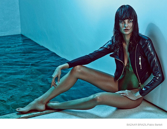Barbara Fialho Turns Up the Heat in Swimsuits for Harper's Bazaar Brazil