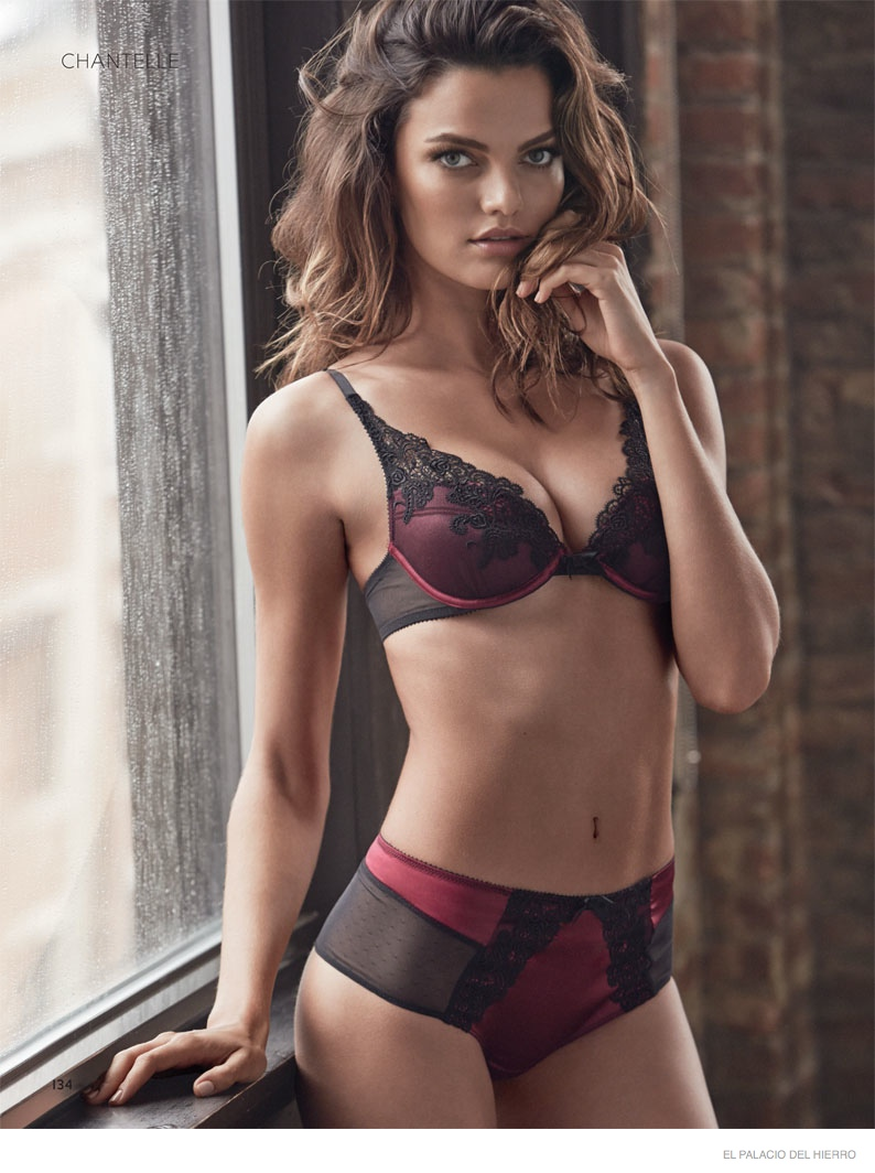 Barbara Fialho Models Underwear Styles for El Palacio de Hierro Catalogue
