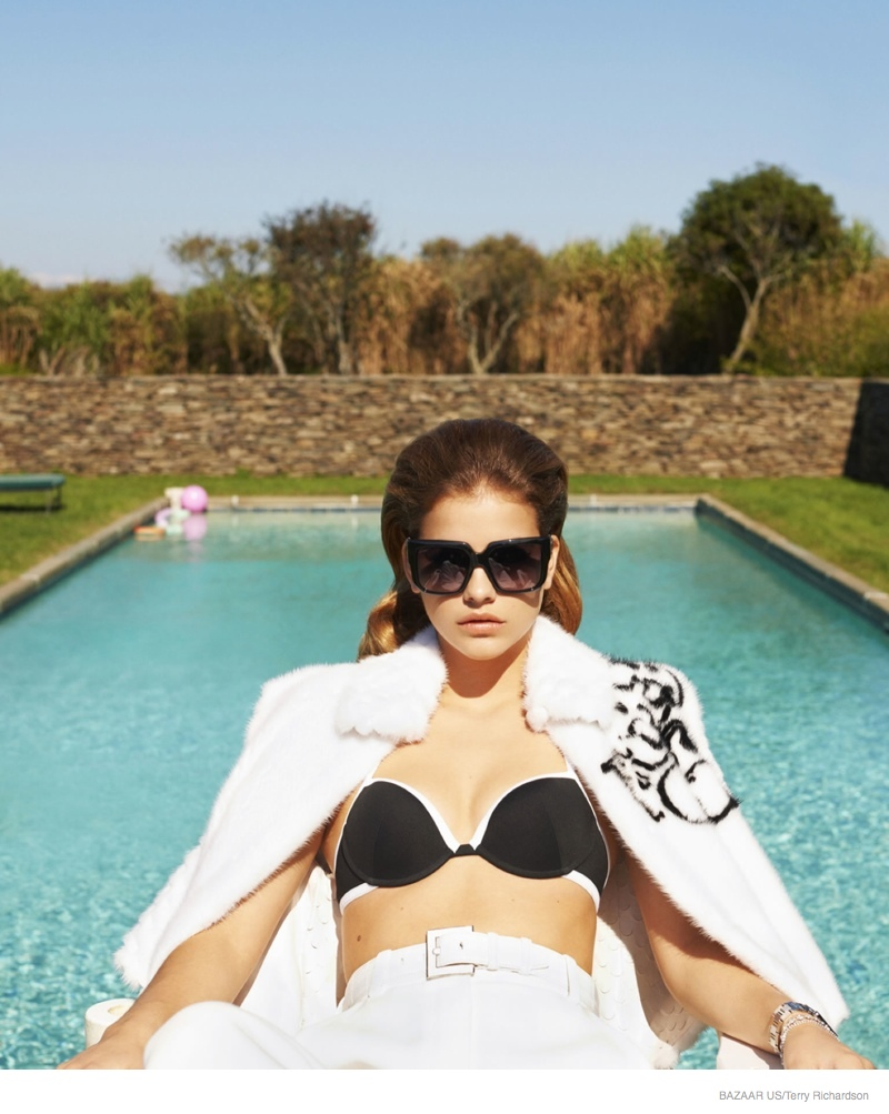 Barbara Palvin Models Chic Resort Looks for Terry Richardson in Bazaar