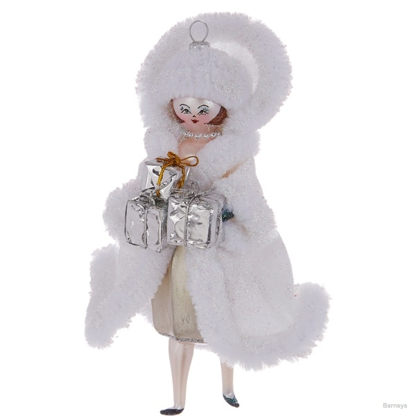 Baz Dazzled Holiday Cloaked Lady Ornament available at Barneys for $52
