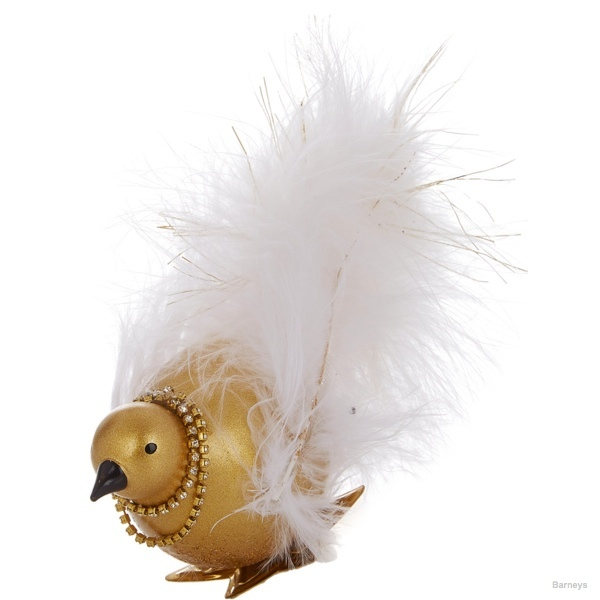 Baz Dazzled Golden Bird Ornament available at Barneys for $32