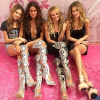 Behati Prinsloo, Izabel Goulart, Candice Swanepoel and Doutzen Kroes at VSFS
