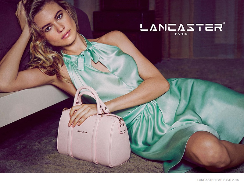 Behati Prinsloo Enchants in Lancaster Paris' Spring 2015 Campaign