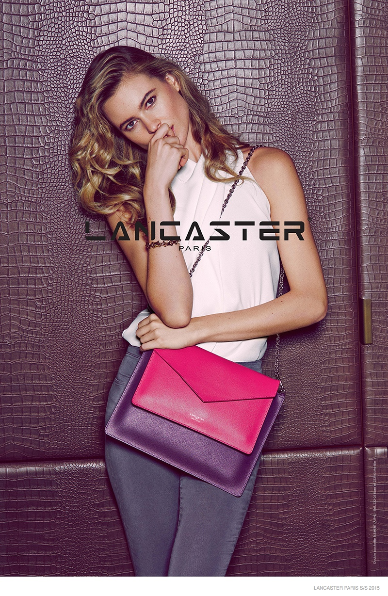 Fabuleux Behati Prinsloo Enchants in Lancaster Paris' Spring 2015 Campaign TB44