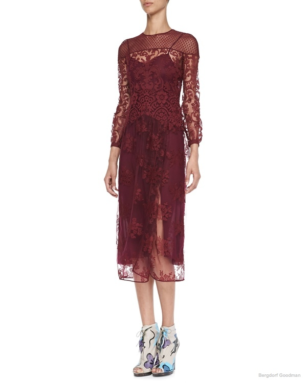 Burberry Prorsum Floral Embroidered Tulle Dress available at Bergdorf Goodman for $1,917.00