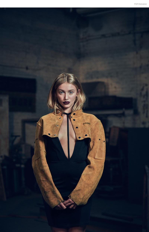 (This Image & Next) Dress AQ/AQ, Welder's Jacket Stylist's own