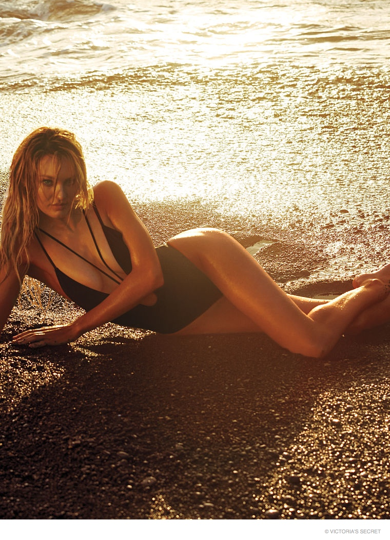 Hot Swim! Candice Swanepoel Strips Down for Victoria's Secret Shoot