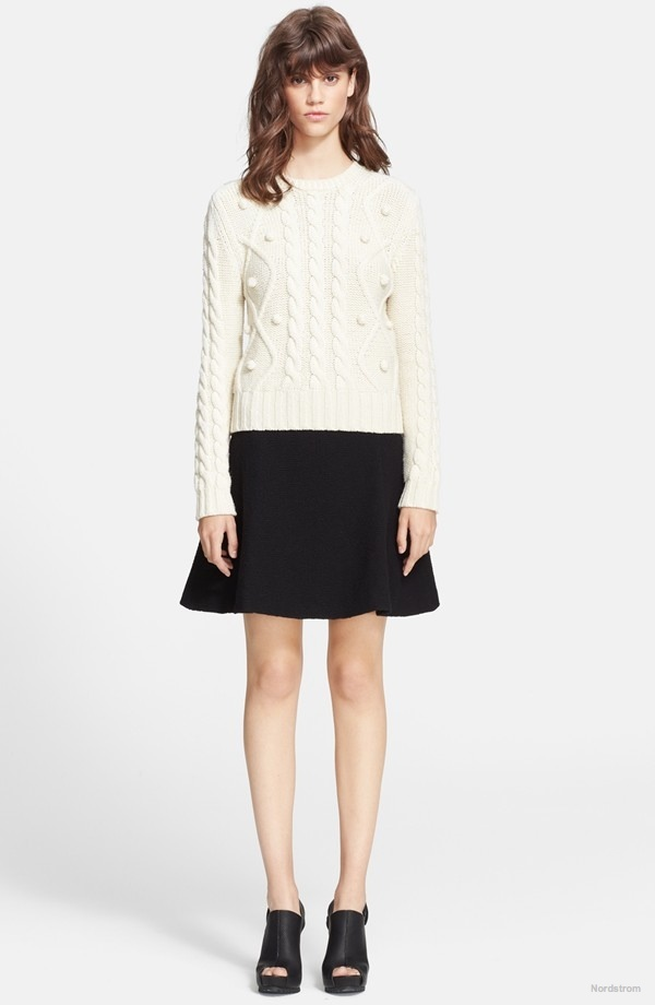 Carven Cable Knit Wool Blend Sweater available at Nordstrom for $197.98